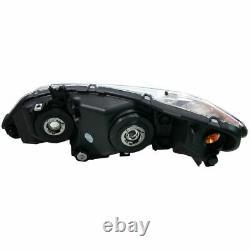 Headlights Headlamps Left & Right Pair Set for 06-08 Honda Civic 4 Door Sedan