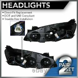 Headlights Headlamps with Amber Signal Left & Right Pair Set for 05-10 Pontiac G6
