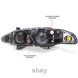 Headlights Set Left Right Pair For 1997-1999 Mitsubishi Eclipse Rs Gs