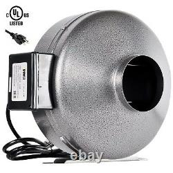 IPower 4'' 6'' 8'' Inline Fan Exhaust Blower Ducting Air Carbon Filter Fan Combo