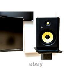 KRK ROKIT 5 G4 RP5G4 5 Active Bi-Amped Studio Monitor Speakers Pair w Stands