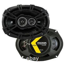 Kicker 43DSC69304 DS 6x9 720W 3-Way 4-Ohm Car Audio Coaxial Speakers, 2 Pairs