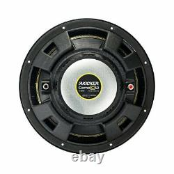 Kicker 44CWCS124 CompC 12 1200 Watt 4 Ohm Single Voice Coil SVC Subwoofer, Pair