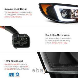 LATEST DESIGN OLED Tube Black Headlights Lamps For 08-14 Subaru Impreza WRX