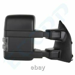 LEFT+RIGHT For 1999-07 Ford F250/F350/F450 Power+Heated+Smoke Signal Tow Mirrors
