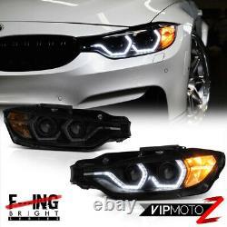 M3 Laser Style 2012-15 BMW F30 320i 328i 335i Black Smoke Projector Headlights