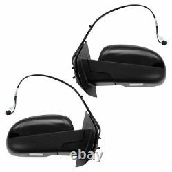 Mirrors Power Heated Signal Puddle Pair Set for Chevy GMC Pickup SUV