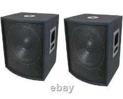 NEW (2) 15 SUBWOOFER Speakers PAIR. Woofer Sub box. DJ. PA. BASS set Pro Audio. 8ohm