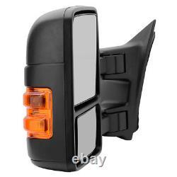 PAIR(2) 2008-2016 Ford F250F550 Super Duty Manual Trailer Tow Mirror LED Signal