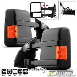 PAIR(2) 2008-2016 Ford F250F550 Super Duty Power+Heated+Signal Tow Side Mirrors