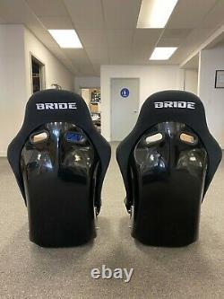 PAIR(2) BRIDE VIOS lll LOW MAX RACING BUCKET SEATS BLACK CLOTH FRP