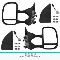 PAIR for 1999-2007 Ford F250 F550 SuperDuty LED Signal Power Heated Tow Mirrors