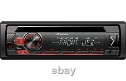 PIONEER DEH-S1100UB Car Stereo CD Receiver/ 2 PAIRS JVC CSJ620 Speakers 300WATTS