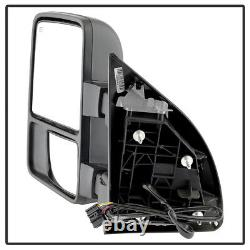 Pair(2) 2008-2016 Ford F250F550 SuperDuty Power Heated Signal Tow Mirrors SMOKE
