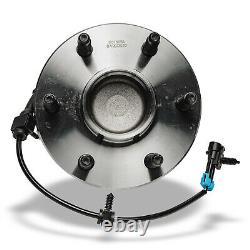 Pair 2 Front Wheel Hub Bearing for Chevy Silverado GMC Sierra 1500 HD 6 LUG 2WD