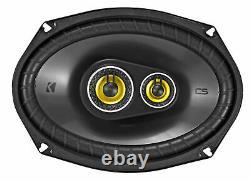 Pair KICKER 46CSC6934 6x9 6x9 900 Watt 4-Ohm 3-Way Car Audio Speakers CSC693