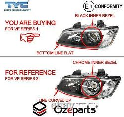 Pair LH+RH Projector Head Light Black For Holden VE Commodore Series 1'06'10