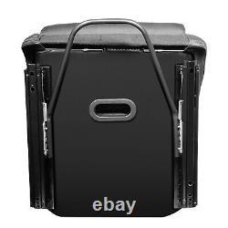 Pair Of Universal Black Fabric Fixed Position Racing Bucket Seat+slider+brackets