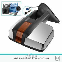 Pair Power Chrome Tow Mirrors Heated for 03-06 Silverado Sierra 1500 2500 3500