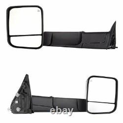 Pair Tow Mirrors Power Heated Led Signal Lights For 98-02 Dodge Ram 1500 25 3500