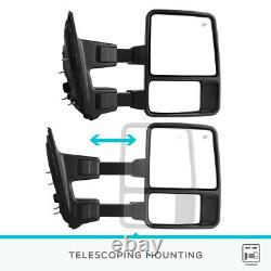 Pair for 2008-2016 Ford F250 F350 SuperDuty Power Heated Tow Mirrors Turn Signal