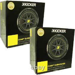 Pair of Kicker Comp 10C104 10 600 Watt per Pair 4 Ohm Car Subwoofers