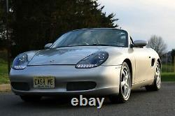 Porsche Boxster 986 996 MK1 Black LED DRL Projector Headlights pair or set of 2