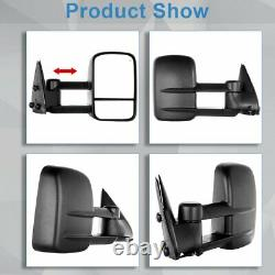 Power Heated Door Towing Mirrors Side Pair For 1999-2002 Chevy GMC Truck