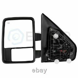 Power Heated Puddle light turn Signal Towing Mirrors Pair For 04-2014 Ford F150