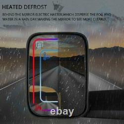 Power Heated Tow Mirrors Flip-Up Pair For 2002-08 Dodge RAM 1500 03-09 2500 3500