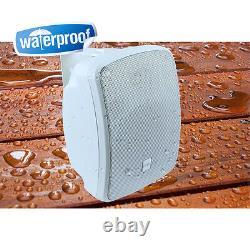 Pyle PDWR54BTW 5.25 600W Bluetooth Waterproof Powered Outdoor Speakers (Pair)