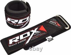 RDX Weight Lifting Wrist Straps Bodybuilding Grip Support Gym Wraps Padded Brace