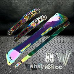 Rear Lower Control Arm Subframe Brace Tie Bar Chrome Fits Honda Civic 92-95 EG
