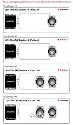 Rockford Fosgate R2SD4-10 10 800W 4-Ohm R2 Car Shallow Subwoofers Subs, Pair