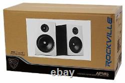 Rockville APM5W 5.25 2-Way 250W Active/Powered USB Studio Monitor Speakers Pair