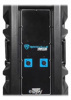 Rockville RPG225K Pair Dual 15 2000w Powered DJ Speaker System withBluetooth+Mic