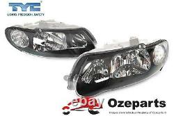 Set Pair LH+RH Head Light Halogen Black Tear Drop For Holden Commodore VX VU SS