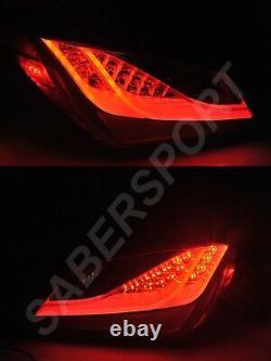 Set of Pair Black Smoke LED Taillights for 2010-2016 Hyundai Genesis Coupe