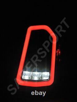 Set of Pair Eagle Eyes Black Full LED Taillights for 2011-2014 Chrysler 300