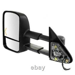Side View Mirror Tow Power Heated Signal Black Pair 2 for GMC Sierra 1500 6.0L
