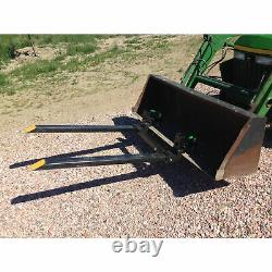 Titan Attachments Clamp On Pallet Forks 43 Pair 4000 lb. Capacity Heavy Duty