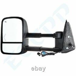 Tow For 03-07 Sierra Silverado 1500 2500HD 3500 Mirrors Power Heated Signal Pair