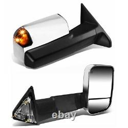 Tow Mirrors For 09-18 Ram 1500 2500 3500 Pair Power Heated withTemperature Sensor