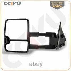 Tow Mirrors Pair For 2003-07 Silverado Sierra 1500 2500 3500 Power Heated Signal