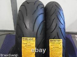 Two Continental Conti Motion 120/70-17 180/55-17 Tires Pair Cbr 600 R6 Gsxr 750