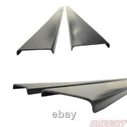 Universal Side Skirt Extensions Rocker Panel Splitters LH RH Pair PU