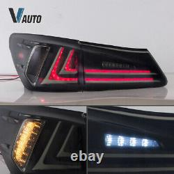 VLAND LED Tail Lights Fit For Lexus IS250 IS350 ISF 2006-2012 Smoked Lens Pair