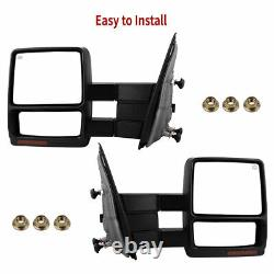 YITAMOTOR Pair Power Tow Mirrors For 07-14 Ford F150 Pickup Signal Puddle Heated